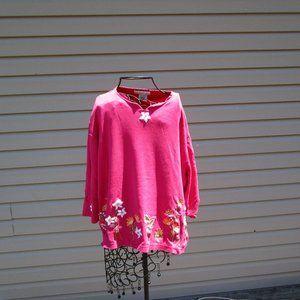 Mandal Bay Pink Flower Shirt Size XXL